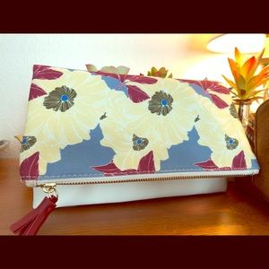 New Rachel Pally Clutch Reversible Bloom Floral